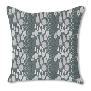 Fency Forest Monochrome Burlap Pillow Double Sided