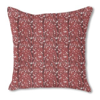 Cherry Tree Burlap Pillow Single Sided