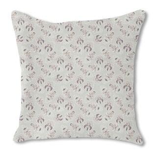 Lush Flora Pastel Burlap Pillow Double Sided