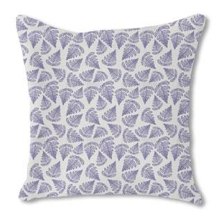 Fern Leaf Burlap Pillow Double Sided