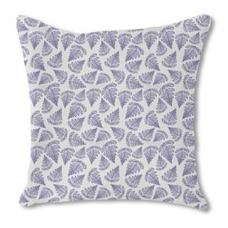 Fern Leaf Burlap Pillow Single Sided