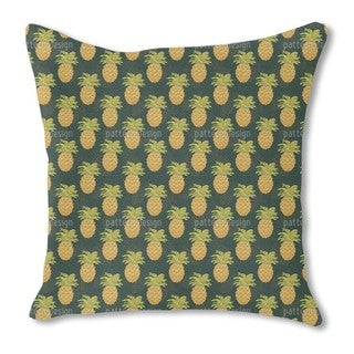 Ripe Pineapples Burlap Pillow Single Sided
