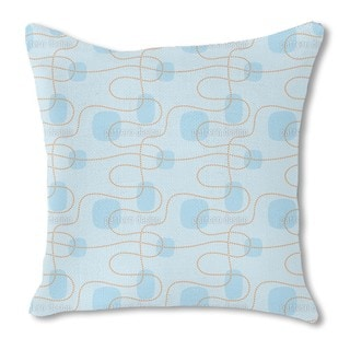 Spring Dots Burlap Pillow Single Sided