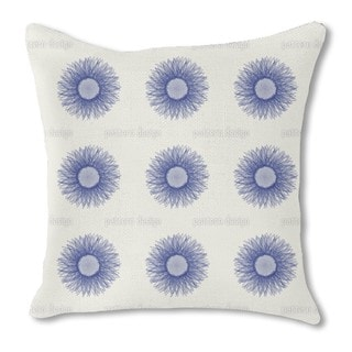 Sunflower Blue Burlap Pillow Double Sided