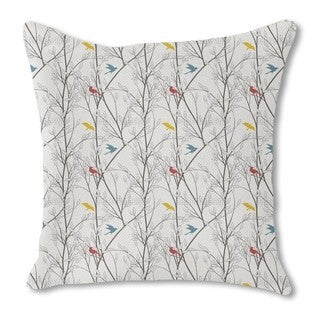 The Birds of the Forest Burlap Pillow Double Sided