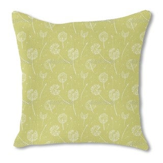Dandelion Fly Burlap Pillow Double Sided