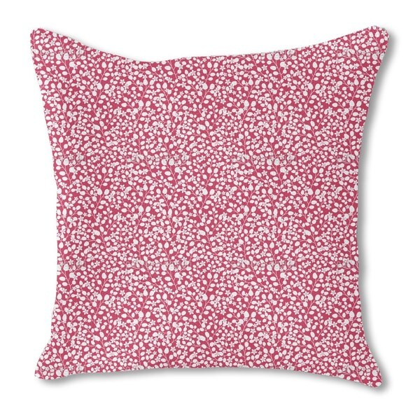 Snow White's Garden Burlap Pillow Single Sided