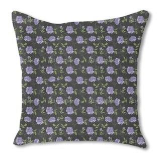 Night Peony Burlap Pillow Single Sided