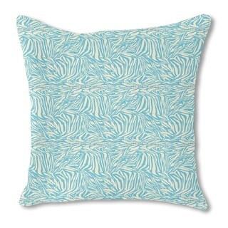 Zebra Aqua Burlap Pillow Single Sided