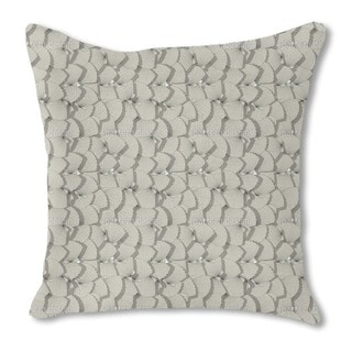 Sea Shell Fan Burlap Pillow Double Sided