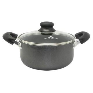 Black Aluminum Non-Stick 3.5-quart Stock Pot