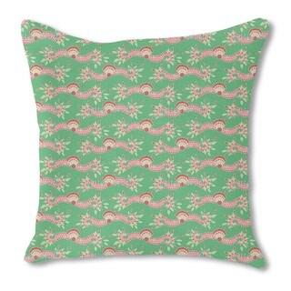 Persia Green Burlap Pillow Single Sided
