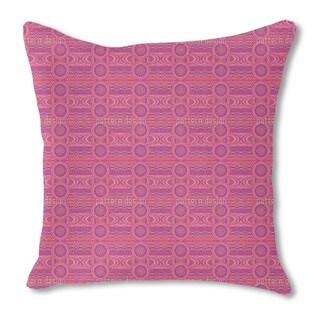 Female Pixel Planets Burlap Pillow Single Sided