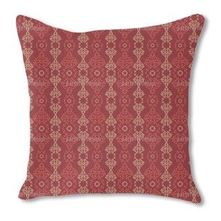 Eastern Arabesques Burlap Pillow Double Sided
