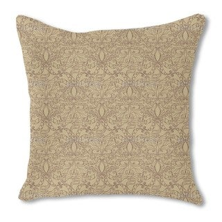 Spiritual Loops Beige Burlap Pillow Single Sided