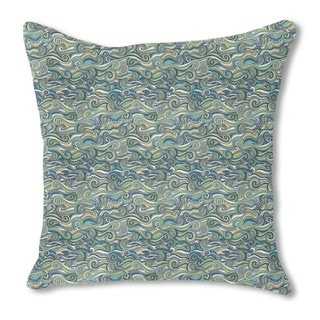 Stormy Sea Burlap Pillow Double Sided