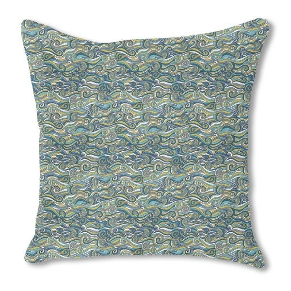 Stormy Sea Burlap Pillow Single Sided