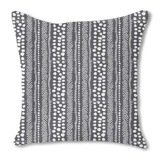 African Pathways Burlap Pillow Double Sided