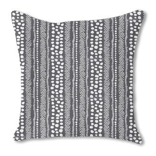 African Pathways Burlap Pillow Single Sided