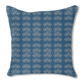 Attracting Butterflies in Blue Burlap Pillow Double Sided