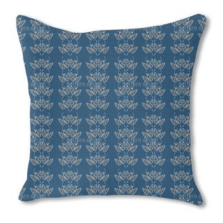 Attracting Butterflies in Blue Burlap Pillow Single Sided