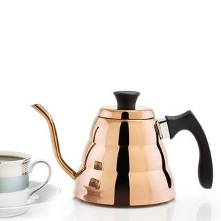 DuraCopper Precise Coffee and Tea 1.05 Qt. /1.0 L. Pour-over Kettle|https://ak1.ostkcdn.com/images/products/12663511/P19450756.jpg?impolicy=medium