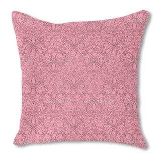 Spiritual Loopies Pink Burlap Pillow Double Sided