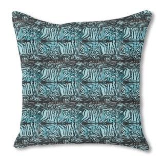 Zebra Fur Blue Burlap Pillow Single Sided