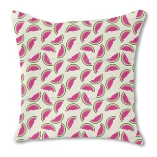 Melons For Breakfast Burlap Pillow Single Sided