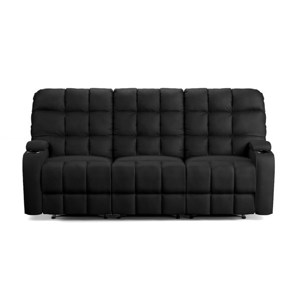 ProLounger Black Microfiber Wall Hugger Storage 3 Seat Reclining Sofa    Free Shipping Today   Overstock.com   19451222