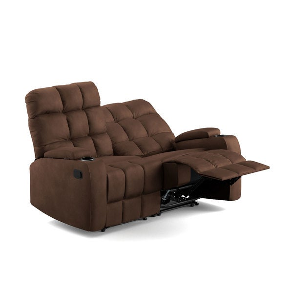 ProLounger Brown Microfiber Storage 2 Seat Reclining Loveseat - Free Shipping Today - Overstock.com - 19451220  sc 1 st  Overstock.com & ProLounger Brown Microfiber Storage 2 Seat Reclining Loveseat ... islam-shia.org