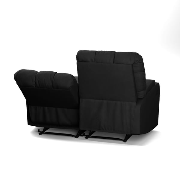 ProLounger Black Microfiber Wall Hugger Storage 2 Seat Reclining Loveseat - Free Shipping Today - Overstock.com - 19451223  sc 1 st  Overstock.com & ProLounger Black Microfiber Wall Hugger Storage 2 Seat Reclining ... islam-shia.org