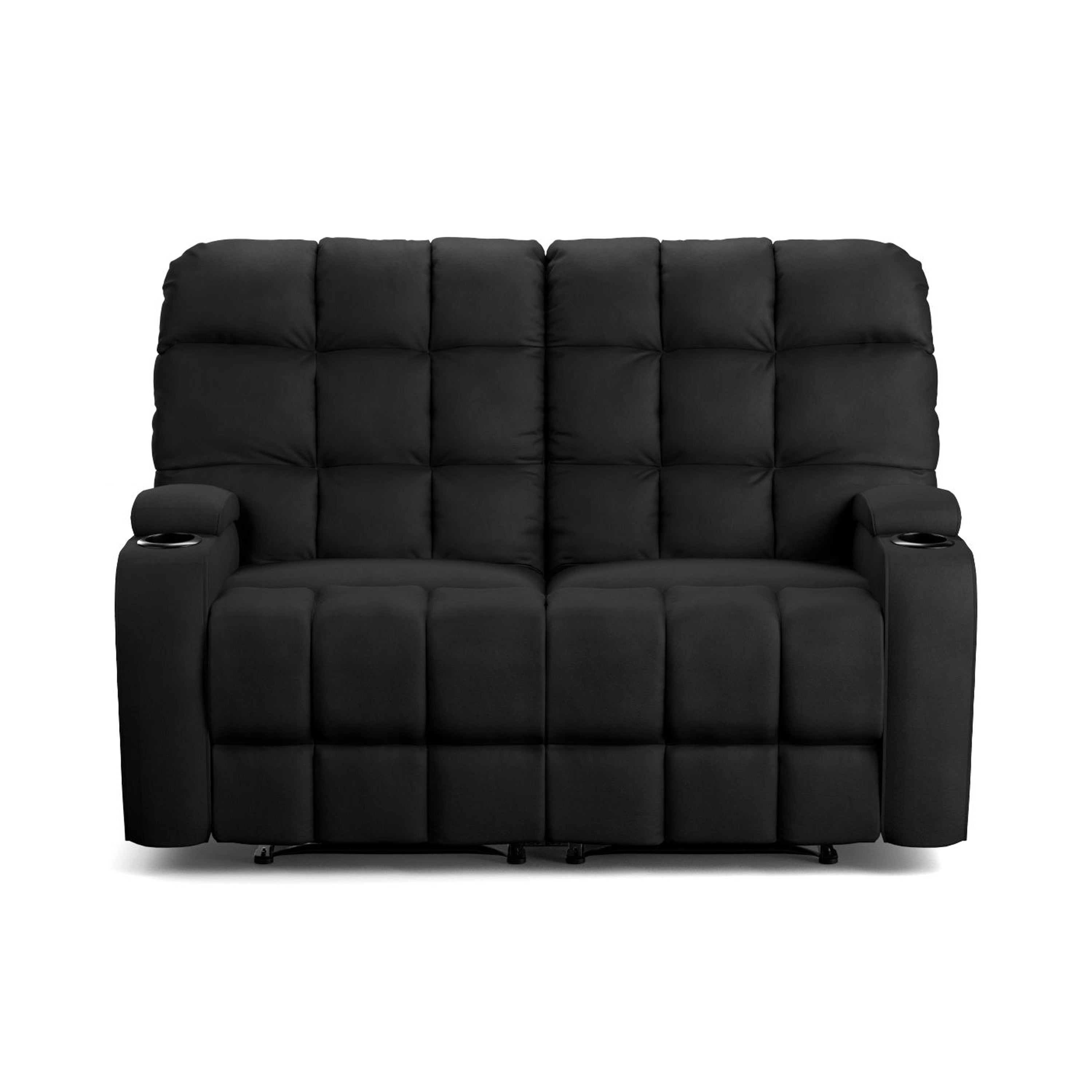 Double Recliner Chair Dual Microfiber 2 Seat Reclining