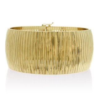 Italian 14K Yellow Gold Cleopatra Tapered Bracelet, 7 Inches
