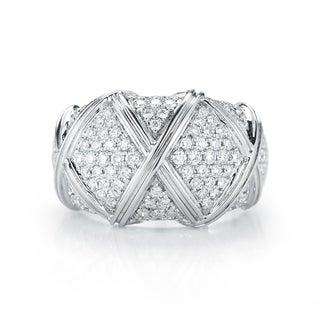 Size 7 14k White Gold 1 1/6ct TDW Diamond Ring (H-I, VS1-VS2)