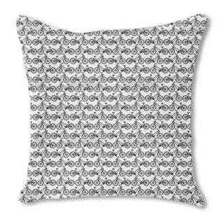 Charming Ladies Cycles Burlap Pillow Double Sided