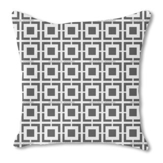 Monochrome Lattice Burlap Pillow Single Sided