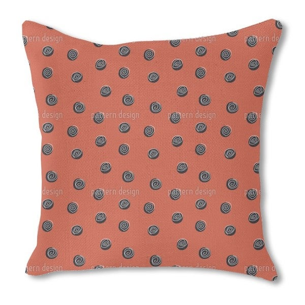 Squiggles on Dots Burlap Pillow Single Sided