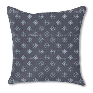 Snow Is Falling Burlap Pillow Double Sided