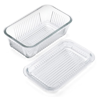 Gemco 5078594 Clear Glass 6 In 1 Butter Dish