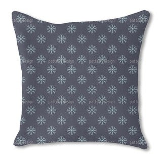 Snow Is Falling Burlap Pillow Single Sided