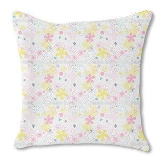 Dream Flower Garden Burlap Pillow Double Sided