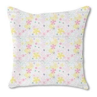 Dream Flower Garden Burlap Pillow Single Sided