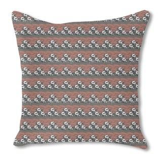 Skully Grey Burlap Pillow Single Sided