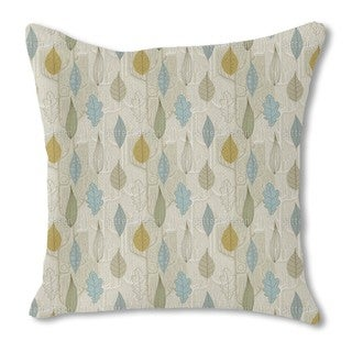 Trees and Leaves Burlap Pillow Single Sided