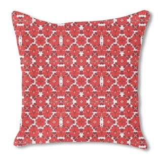 Shamrock in Red Burlap Pillow Single Sided