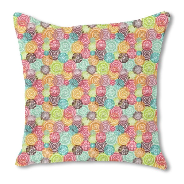 Summer Doilies Burlap Pillow Double Sided