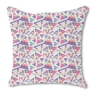 Crystals in Triangular Shape Burlap Pillow Single Sided