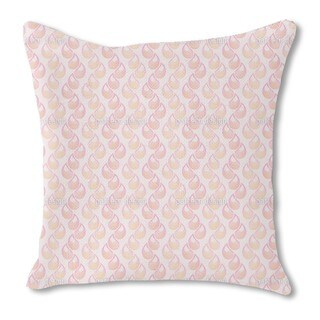 Pink Tears Burlap Pillow Double Sided