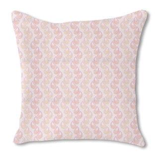 Pink Tears Burlap Pillow Single Sided
